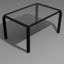 Low Poly Stylish Modern Desk 3d Model