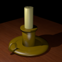 Retro Candle Stick 3d Model Free