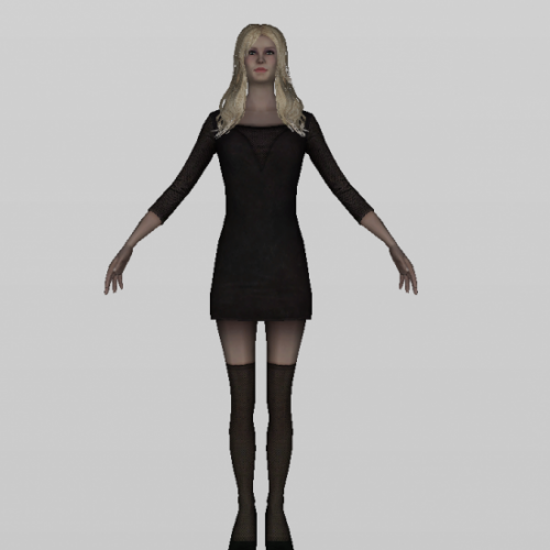 Download Freebies 3d Free Dancer Girl Character