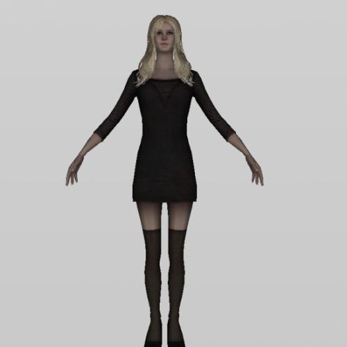 Dancer Girl Character