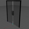 Glass Door Free 3d Model