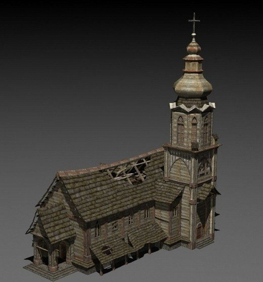 Download freebies 3d free abandoned church free Free 3d
