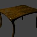 Retro Wooden Table 3d Model Free