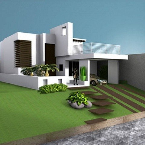 House villa residence building free 3d model id7056 free for Build a 3d house online