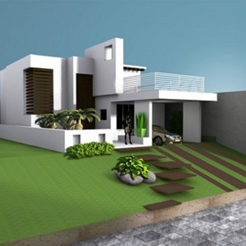 House villa residence building free 3d model id7056 free Build house online 3d free