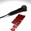 Black Electronic Microphone