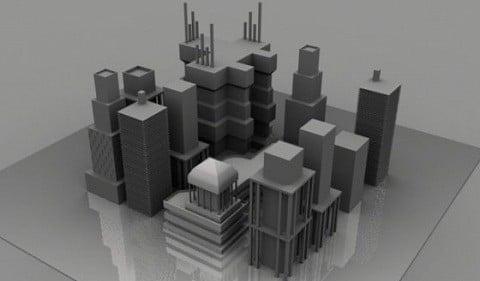 Edificios de la torre urbana de la ciudad