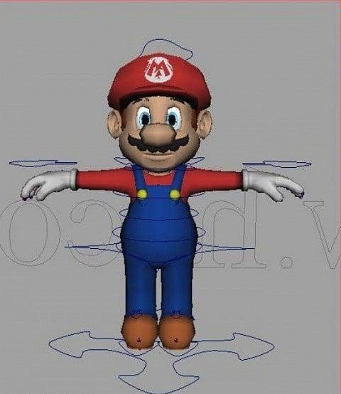 Mario Maya Rig Free 3d Model