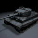 Veteran Tiger Tank Free 3d Model