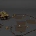 Medieval Farm Buildings 3d Model