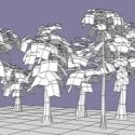 Various Plants Lowpoly Free 3d Model