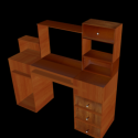 Home PC Desk Free 3d Model