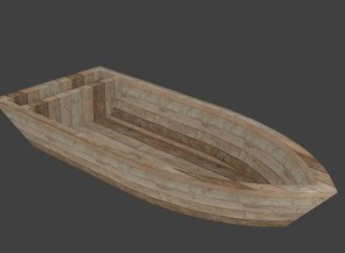 قارب خشبي بسيط