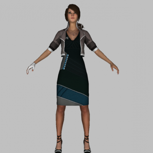 Download Freebies 3d Free Alexia Girl Character