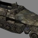 German Armored Truck Free 3d Model