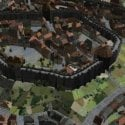 Pemandangan Bahagian Luar Bandar Abad Pertengahan