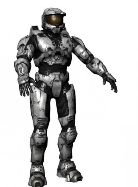 Spartan Master Chief Halo Game 3D Model Free (Obj) - Open3dModel