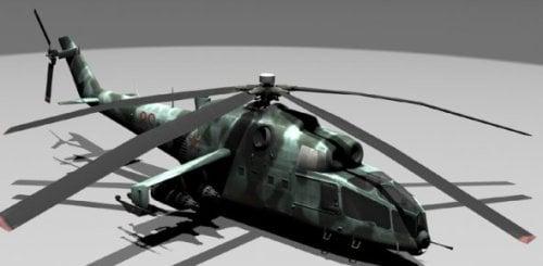 Helicóptero Mi-24a