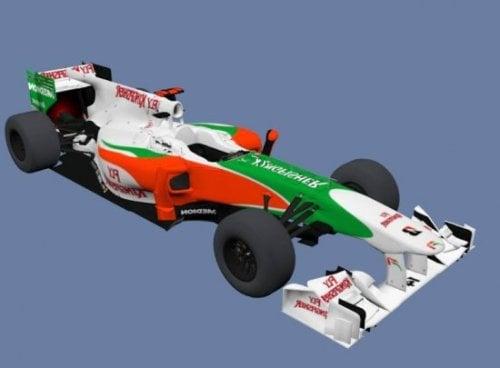 Force India F1 Sport Car 3d Model ID10080 - Free Download (obj,lwo