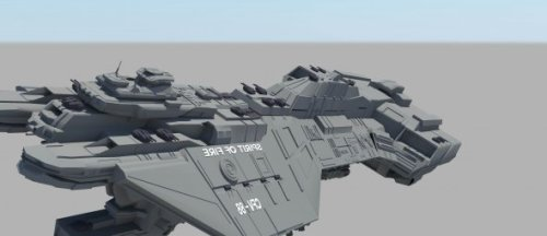 Unsc Spirit Of Fire Space Ship Free 3d Model ID9353 - Free