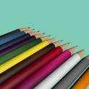 12 Coloured Pencils Free 3d Model