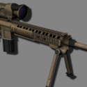 M110 Sniper Gun Free 3d Model