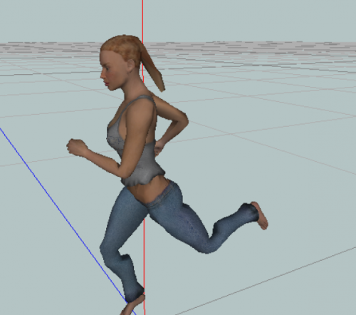 Animated Woman Rigged