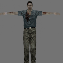 Zombie Man Free 3d Model