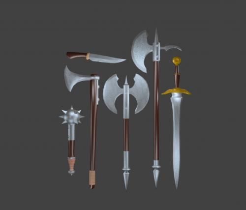 Armas de espada medivial