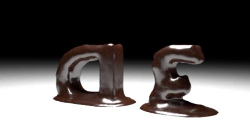 Animación de texto de chocolate