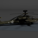 BF2 Apache Helicopter Free 3d Model