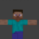 Minecraft Steve Rigged