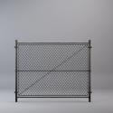Metal Grid Fence Free 3d Model