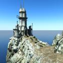 Broken Tower Building Free 3d Model