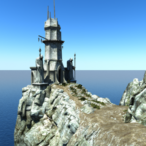 Download Freebies 3d Free Broken Tower Building