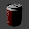 Red Coca Cola Can Free 3d Model