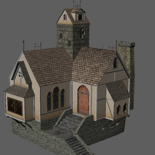 Download Freebies 3d Free Medieval House Free 3d
