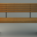 Wood Park Bench Free 3d Model