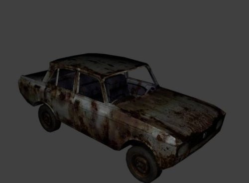 Download Freebies 3d Free Moskvitch Rusty Old Free