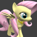 Fluttershy Character 3d Model