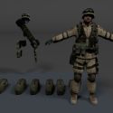 Bf2 Soldier Free 3d Model