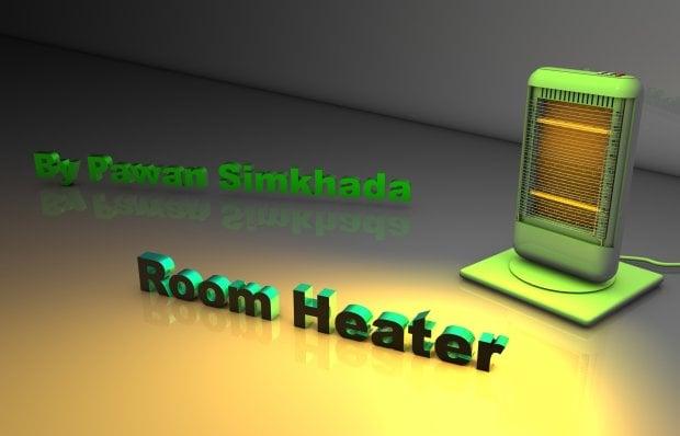 Room Heater Free 3d Model