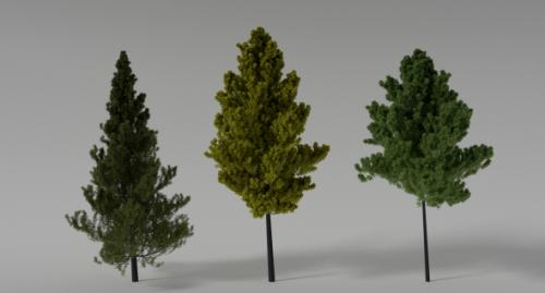 Escena de árboles realistas