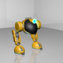 Biped Rigged Robot 3d Model