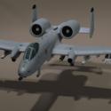 USA 10 Thunderbolt Aircraft Free 3d Model