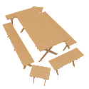 Wooden Outdoor Furniture Set