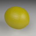 Yellow Lemon Free 3d Model