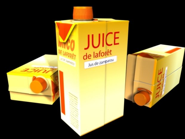 Juice Box Free 3d Model