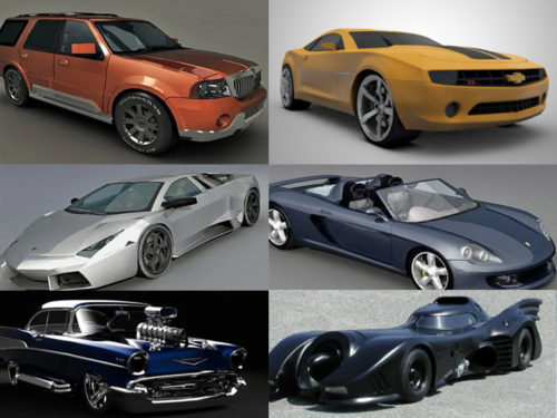 10 Free Car 3D Models Collection