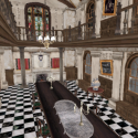 Mansion Dining Room Interior Scene